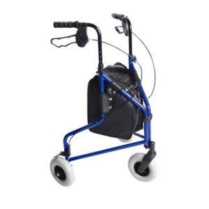 basic lightweight three wheel blue