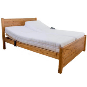sand wooden bed