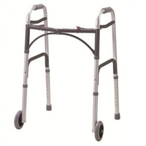 folding walking frame with wheels