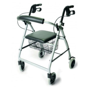 4 wheel walker with seat and storage