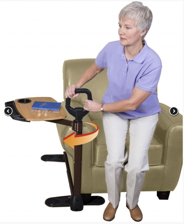 over chair table and stand aid