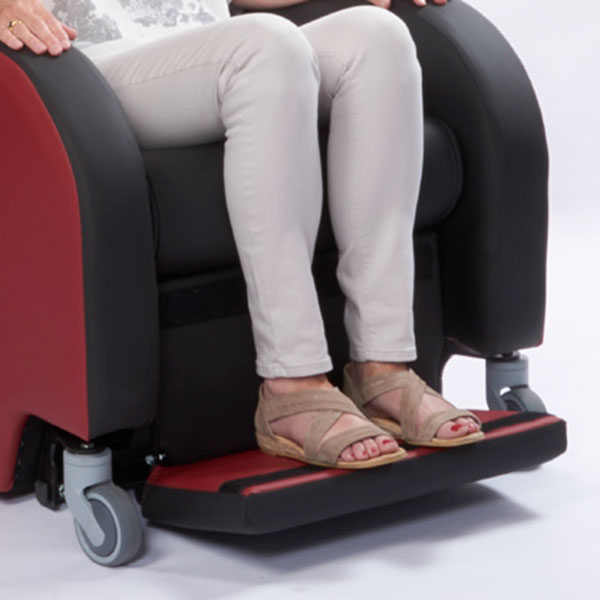 primacare affinity porter recliner chair foot rest