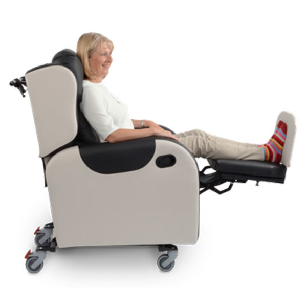 primacare broadway reclining chair sideways view