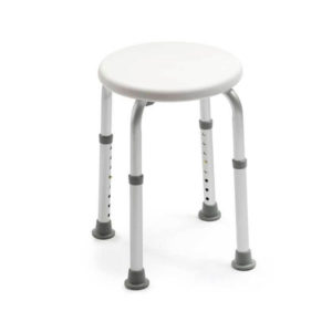 shower stool white background