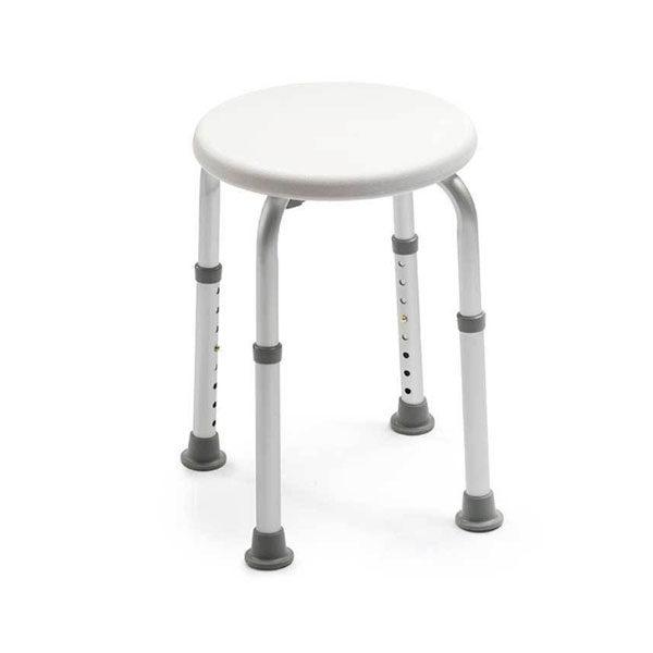 shower stool white background